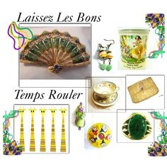 Mardi Gras Time! by suzannee43 on Polyvore featuring S&S, MardiGras, integrityTT and EtsySpecialT