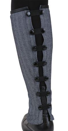 Ladies Reversible Gaiters - Gray Herringbone