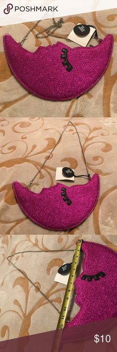 New moon purse glitter bling The white pepper moon chain purse/ new Bags Shoulder Bags