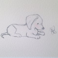 puppy drawing easy step by step ; puppy drawing easy for kids ; Cool Art Drawings, Cute Animal Drawings, Pencil Art Drawings, Art Drawings Sketches, Doodle Drawings, Doodle Art, Art Sketches, Dog Drawings, Easy Drawings Of Animals