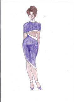 Purple and White Qipao