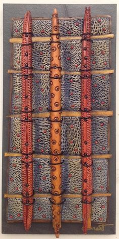 http://bluespiral1.com/ VICKI  GRANT 14068 - Botanical Porcelain & mixed media on slate   8 x 16 in