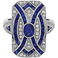 It really is typical in many types of charms, wedding rings and expensive jewelry. Vintage Style Rings, Wedding Rings Vintage, Vintage Engagement Rings, Vintage Jewelry, Antique Jewellery, Blue Sapphire Rings, Blue Rings, Sapphire Diamond, Blue Topaz