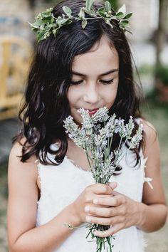 Flower girl at a rom