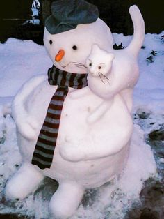 """snowman and friend"" - photo via mistymorrning on imgfave.com"