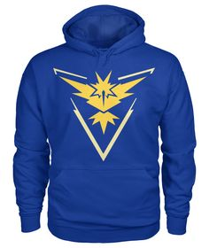 Team Instinct Pokemon Go Trainer Hoodie