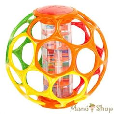 finger holes make this ball incredibly easy for baby to grasp<br /><br />*Rainstick rattle with multi-color beads make soothing sounds<br /><br />*Virtually indestructible<br /><br />* Perfect for kids of all ages Best Baby Toys, Best Baby Gifts, Baby Play Yard, Rain Sticks, Toys For Us, Baby On A Budget, Toys R Us Canada, Baby Rattle, Tummy Time