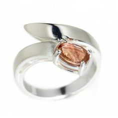 Sterling Silver Bypass Sunstone Ring