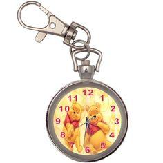 Winnie The Pooh Pocket Key Ring Chain Watch