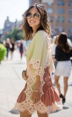 Aimee Song from Street Style at New York Fashion Week Spring 2017  The blogger…