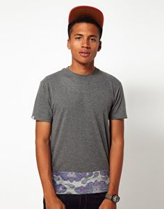 Bellfield T-Shirt with Paisley Panel