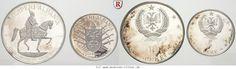 RITTER Albanien, 2 Münzen 1968, 500. Todestag Skanderberg, 5 & 10 Lekke, PP #coins