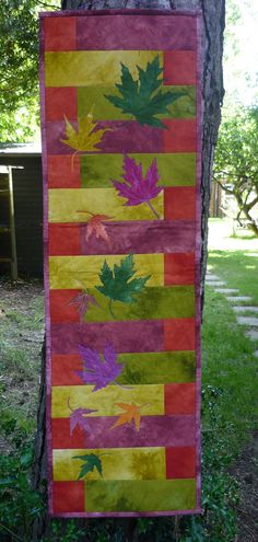 Autumn Leaves Wall Hanging by HandmadeByMargo on Etsy, £45.00