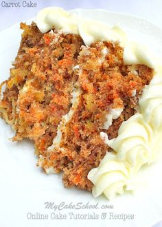 The BEST Carrot Cake from Scratch Recipe! MyCakeSchool.com
