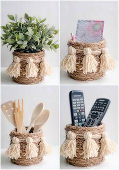 UHeart Organizing: A Darling DIY Rope Basket