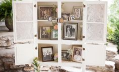 love the idea of a display of family (on both sides) on their wedding days