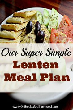 A very simple weekly Lenten meal plan for Orthodox Lent that can be adapted for a variety of tastes and budgets. Vegetarian Recipes, Healthy Recipes, Fast Recipes, Vegetarian Cooking, Healthy Treats, Vegan Food, Yummy Recipes, Healthy Eating, Greek Cooking