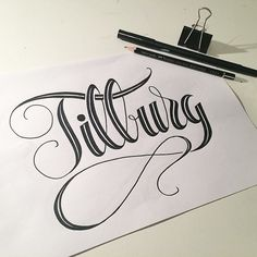 sophisticated hand lettering
