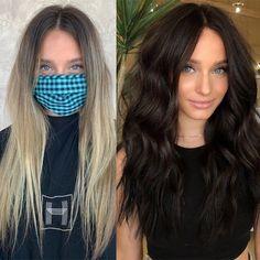 Get The Formula: Blonde To Dark Chocolate Brunette Transformation