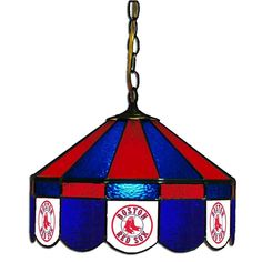 Boston Red Sox MLB 16 Inch Billiards Stained Glass Lamp