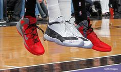 DeMarcus Cousins tribute to dog scrawled on his shoe.