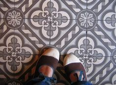 Look! Painted Concrete Tiles | Apartment Therapy