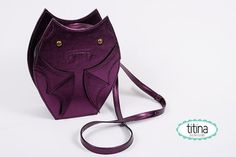 Hey, I found this really awesome Etsy listing at https://www.etsy.com/listing/112620634/metallic-dark-purple-bat-purse