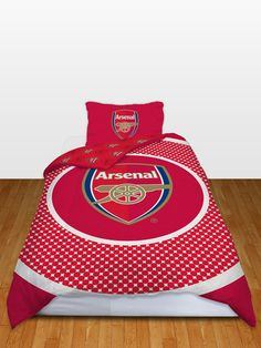 Arsenal FC Bullseye Single Reversible Duvet Cover - Bedding Set - Perfect bedroom set for any Arsenal fan