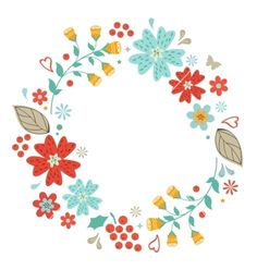 Floral wreath vector - by Olillia on VectorStock®