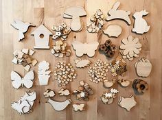 Mega Spring Craft Pack - Nearly 300 Wooden Shapes! Wooden Craft Shapes, Wooden Crafts, Laser Cut Plywood, Early Years Classroom, Spring Crafts, Pyrography, Packing, Crafty, Display Ideas