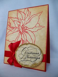 Paper Inkspirations: #Stampendous New #Christmas images #JumboPoinsettia