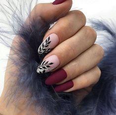 50 chic burgundy nail designs for winter 2019 - nail art - . - 50 chic burgundy nail designs for winter 2019 - nail art - - Burgundy Nail Designs, Burgundy Nails, Gel Nail Designs, Nails Design, Latest Nail Designs, Dark Color Nails, Nail Colors, Neutral Colors, Dark Grey Nails