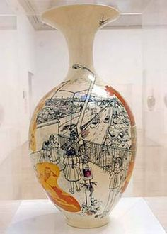 grayson perry Pottery Painting, Ceramic Painting, Ceramic Art, Arlene Shechet, Grayson Perry, Ceramic Pottery, Painted Pottery, Pottery Marks, Political Art