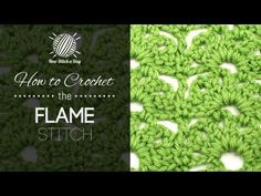 How to Crochet the Flame Stitch - YouTube