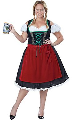Adult Oktoberfest Beer Wench Costume Plus Size