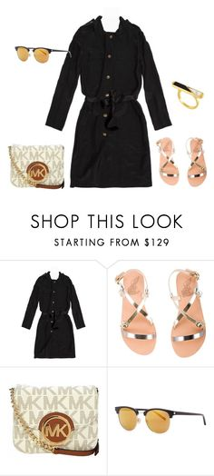 """""""outfit 4546"""" by natalyag ❤ liked on Polyvore featuring Lanvin, Ancient Greek Sandals, Michael Kors, Yves Saint Laurent, Edge of Ember and shirtdress"""
