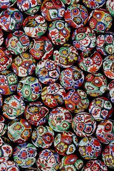 Millefiori Lentil Beads by Jack DeWitt Polymer Beads, Clay Beads, Lampwork Beads, African Trade Beads, African Jewelry, Fimo Clay, Polymer Clay Art, Venetian Glass, Murano Glass