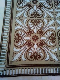 Cross Stitch Patterns, Traditional, Embroidery, Tablecloths, Rugs, Fabric, Color, Farmhouse Rugs, Throw Pillows