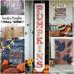 5 DIY Fun Fall Signs - Our Crafty Mom