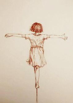 Tightrope walking #drawingaugust
