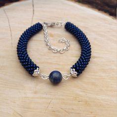 Items similar to Blue lapis lazuli bracelet, lapis lazuli gemstone, lapis lazuli jewelry, blue gemst Statement Jewelry, Gemstone Jewelry, Beaded Jewelry, Beaded Necklace, Lapis Lazuli Bracelet, Lapis Lazuli Jewelry, Bracelet Making, Jewelry Making, Crochet Beaded Bracelets