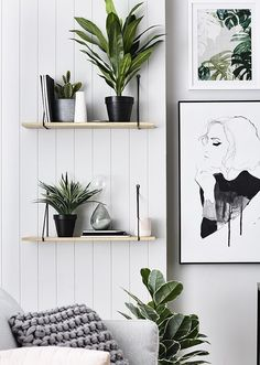 A classic Scandinavian wall of decor: great use of simple, minimalist elements to create something full of style!