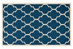 Sawyer Rug, Navy/Ivory on OneKingsLane.com