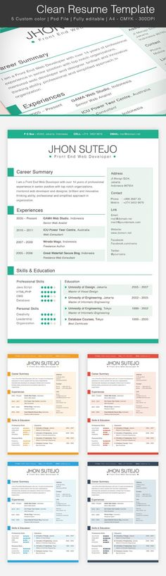 contemporary resume w\/color Success Resume \ Wardrobe - contemporary resume template free