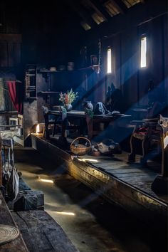 / Vikings Long House by jorgen norgaard Medieval, Viking Hall, Larp, Vikings Time, Viking House, Viking Culture, Long House, Old Norse, Iron Age
