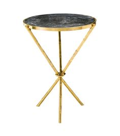 Brass Brothers & Co., BAMBOO #5 Marble Table