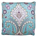 Decorative Pillow -Blue and Purple Flowers #purpledecor