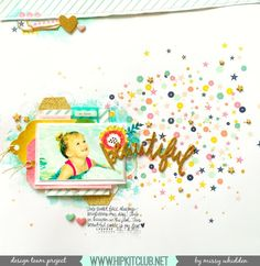 Hip Kit Club DT Project - 2015 December Hip Kits - Heidi Swapp, American Crafts, Shimmerz, Crate Paper