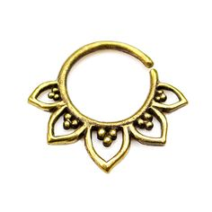 Tribal Septum Ring for pierced nose. septum by Umanativedesign