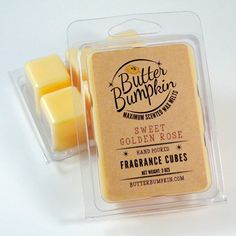 Sweet Golden Rose Scented Wax Melts - Yellow Roses Fragrance Wax Cubes - Beautiful Floral Rose Garden Aroma Candle Melts